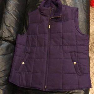 Dark purple vest size XL